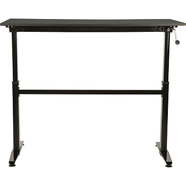 KMS Cool Living 27.5'' Rectangular Height Adjustable Table, Black (CL-ALUMSUBK)