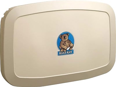 Koala Kare® Horizontal Wall-Mounted Baby Changing Station, Cream