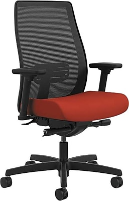 HON® Endorse Mid-Back Task Chair, Mesh/Fabric, Poppy, Seat: 19 1/2