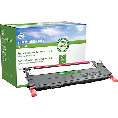 Sustainable Earth by Staples Remanufactured Magenta Toner Cartridge, Samsung CLT-M409S (SEBCLP315MRDS)