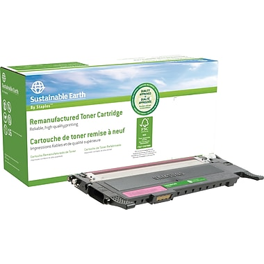 Sustainable Earth by Staples Remanufactured Magenta Toner Cartridge, Samsung CLT-M407S (SEBCLP320MRDS)