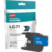 Staples® Remanufactured Inkjet Cartridge, Brother LC71 (LC-71), Yellow