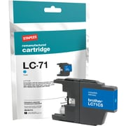 Staples Remanufactured Cyan Ink Cartridge, Brother LC71C (SIB-RLC71C)