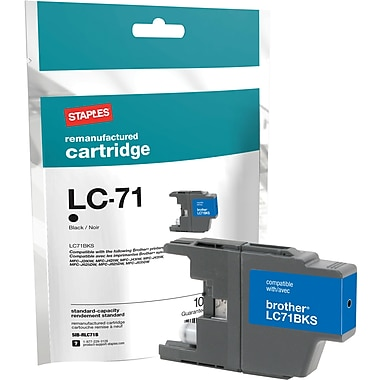 Staples Remanufactured Black Ink Cartridge, Brother LC71BK (SIB-RLC71B)