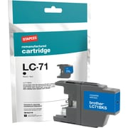 Staples® Remanufactured Inkjet Cartridge, Brother LC71 (LC-71Black), Black