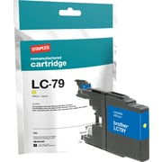 Staples Remanufactured Yellow Ink Cartridge, Brother LC79Y (SIB-RLC79Y), Super High Yield