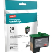 Staples® Black Ink Cartridge Compatible with Lexmark® 16