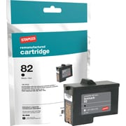 Staples® Remanufactured Inkjet Cartridge, Lexmark 82 (18L0032), Black