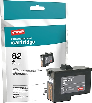 Staples® Black Ink Cartridge Compatible with Lexmark® 82