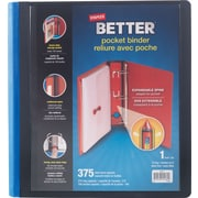 Staples Better 1-Inch D 3-Ring Binder with Pocket, Blue (26161)