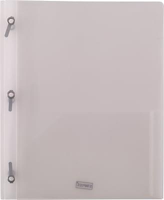 2 Pocket Plastic Folder, Clear