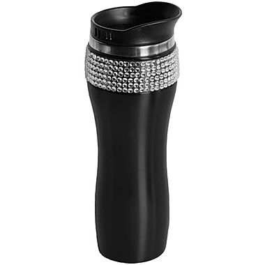Glamstone Stainless Steel Coffee Mug Drink Tumbler with Lid, Black