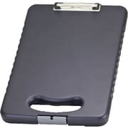 "OIC® Plastic Ergonomic Handle Tablet Clipboard Case, Letter, Charcoal, 16.1"" x 10.2"" x 1.7"""