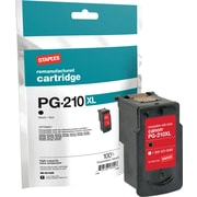 Staples Remanufactured Black Ink Cartridge, Canon PG-210XL (SIC-RPG210XB), High Yield