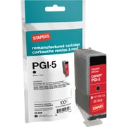 Staples Remanufactured Black Ink Cartridge, Canon PGI-5BK (SIC-RPGI5B)