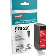 Staples® Remanufactured Inkjet Cartridge, Canon PGI-220 (2945B001), Black