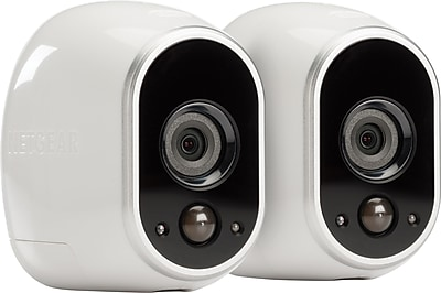 NETGEAR Arlo Smart Home Security Camera Sys w/ 2 HD, Wireless, In/Outdoor w/ Night Vision (VMS3230)