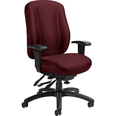 Offices To Go® Overtime High Back Multi-Tilter Office Chair, Wine
