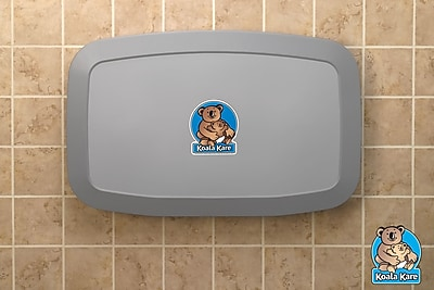 Koala Kare® Horizontal Wall-Mounted Baby Changing Station, Grey