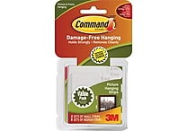 3M Command™ Small and Medium Picture Hanging Strips White 8 Medium and 4 Small/Pack (17203)