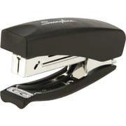 Swingline® Heavy Use Soft Grip Hand Half Strip Stapler, 20 Sheet Capacity, Black
