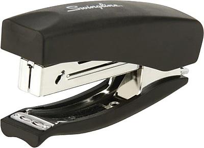 Swingline® Heavy Use Soft Grip Hand Half Strip Stapler, 20 Sheet Capacity, Black