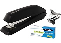 Swingline Standard Stapler Value Pack, 15 Sheets, Black, Premium Staples and Remover Included
