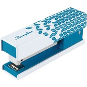 Swingline® Fashion Stapler, 20 Sheets, White and Blue