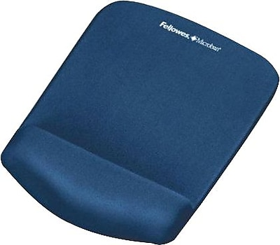 Fellowes PlushTouch Mouse Pad Wrist Rest with FoamFusion, Blue