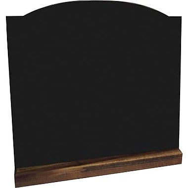 Plain Black Sign with Dark Brown Wood Base, 14