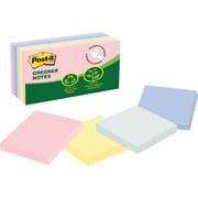 "Post-it® Greener Notes, 3"" x 3"", Helsinki Collection, 12 Pads/Pack (654-RP-A)"