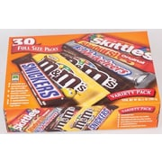 Mars Chocolate And Candy Full Size Variety Pack, 30 Count (220-00084)
