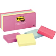 """Post-it® 1-1/2"""" x 2"""" Marseille Notes, 12 Pads/Pack"""