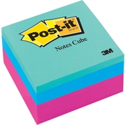 "Post-it® Memo Cube, 3"" x 3"",  Assorted Colors, Each (2027)"