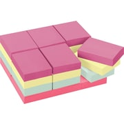 """Post-it® Notes Large Pack, 1 3/8"""" x 1 7/8"""", Marseille Collection, 24 Pads/Pack (653-24APVAD)"""