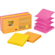 "Post-it® Super Sticky Pop-Up Notes, 3"" x 3"", Rio de Janeiro Collection, 10 Pads/Pack (R33010SSAU)"