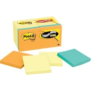 "Post-it® Notes Bonus Value Pack, 3"" x 3"", Canary Yellow, Cape Town Collection, 18 Pads/Pack (654144B)"