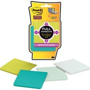"Post-it® Super Sticky Full Adhesive Notes, 3"" x 3"", Bora Bora Collection, 4 Pads/Pack (F3304SSFM)"