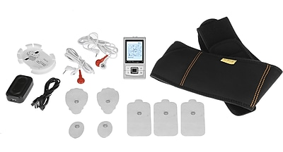 PCH Digital Pulse Massager 3 AB Belt Combo Set, Silver