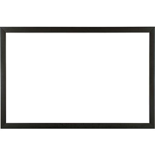 U Brands Magnetic Dry Erase Board 35 x 23 Black Wood Frame | Staples