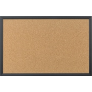 U Brands Cork Bulletin Board 35 x 23 Black Wood Frame