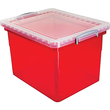 Really Useful Boxes® – Boîte de rangement de 31 l, rouge
