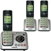 VTech® 3 Handset Cordless Answering System With Caller ID/Call Waiting, Black/Silver