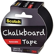 "Scotch™ Chalkboard Tape, 1.88"" x 5 yds., Black (1905R-CB-BLK)"