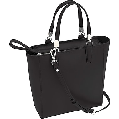 Royce Leather RFID Blocking Tote Bag, Black, Debossing, 3 Initials