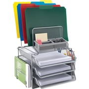 Staples® All-in-One Silver Wire Mesh Desk Organizer (27642)