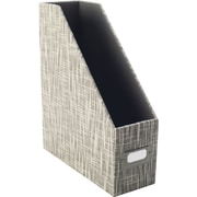Staples Cloth Magazine File, Gray