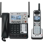 AT&T SynJ SB67138 4-Line Expandable Corded/Cordless Small Business Phone System, Black