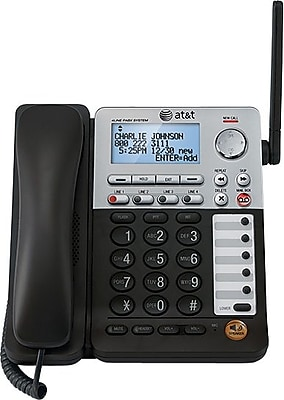 AT&T SynJ SB67148 4-Line Deskset for the AT&T SynJ SB67138 Small Business Phone System, Silver/Black