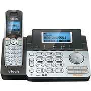 VTech DS6151 DECT 6.0 2-Line Expandable Cordless Phone with Digital Answering System, Silver/Black with 1 Handset
